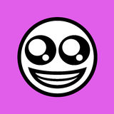 Funny happy face draw Royalty Free Stock Image