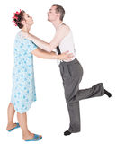 Funny happy family couple embracing Stock Photography