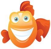 Funny happy fish Stock Photos