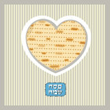 Funny Happy Jewish Passover greeting card. Vector illustration Stock Images