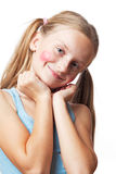 Funny happy little girl. Royalty Free Stock Photo