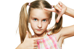 Funny happy little girl. Royalty Free Stock Images