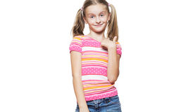 Funny happy little girl. Royalty Free Stock Photos