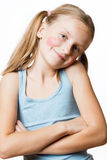 Funny happy little girl. Stock Images
