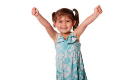 Funny happy little toddler girl stock images