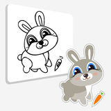 Funny hare. Coloring book Royalty Free Stock Photos