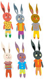 Funny Hare set Stock Photos