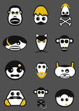 Funny Heads Collection Royalty Free Stock Photography