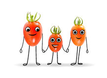 Funny healthy fruit family. Stock Image