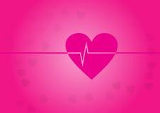 Funny heart beat Royalty Free Stock Image