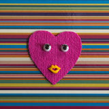 Funny heart with eyes. Royalty Free Stock Photography