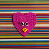 Funny heart with eyes. Stock Image