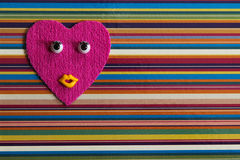 Funny heart with eyes. Stock Photography
