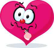 Funny heart grinning - vector Royalty Free Stock Photos