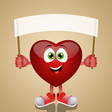 Funny heart with message Royalty Free Stock Images