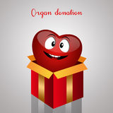 Funny heart for organ donation Royalty Free Stock Photo