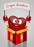 Funny heart for organ donation Royalty Free Stock Photography