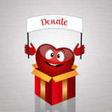 Funny heart for organ donation Stock Image