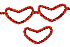 Funny Heart Rope Royalty Free Stock Photography
