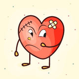 Funny heart for Valentine's Day. Royalty Free Stock Image