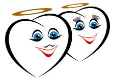 Funny hearts. Stock Photos