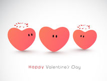 Funny hearts for Happy Valentines Day celebration. Royalty Free Stock Photos