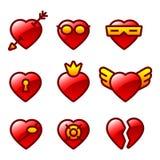 Funny hearts Royalty Free Stock Photo