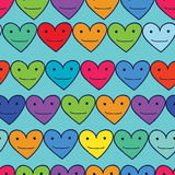 Funny hearts Stock Image