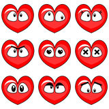 Funny hearts set Royalty Free Stock Photography