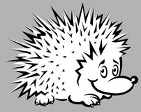 Funny hedgehog illustration Stock Image