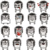 Funny hedgehogs (2) stock images