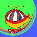 Funny helicopter Royalty Free Stock Photography