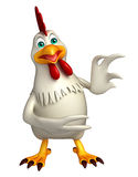Funny Hen cartoon character Stock Images