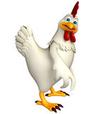 Funny Hen cartoon character Royalty Free Stock Images