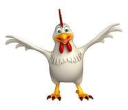 Funny Hen cartoon character Stock Photography