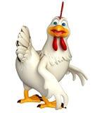 Funny Hen cartoon character Stock Photo