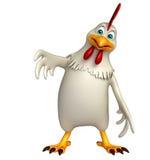 Funny Hen cartoon character Stock Image