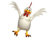 Funny Hen cartoon character Royalty Free Stock Photography