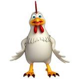 Funny Hen cartoon character Stock Photos