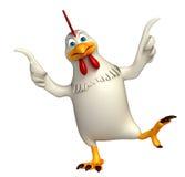 Funny Hen cartoon character Royalty Free Stock Photos