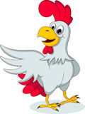 Funny hen cartoon posing Stock Image