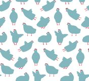 Funny Hen Seamless Pattern Background Royalty Free Stock Photos