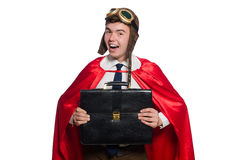 Funny here with briefcase Stock Image