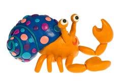 Funny plasticine Hermit crab Stock Images