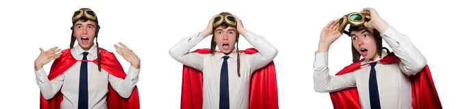 The funny hero isolated on the white royalty free stock photo