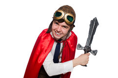 Funny hero Stock Photo