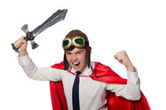 Funny hero Stock Images