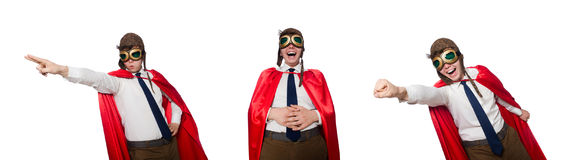 The funny hero isolated on the white Royalty Free Stock Images