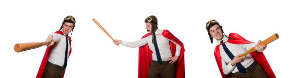 The funny hero isolated on the white Royalty Free Stock Photos