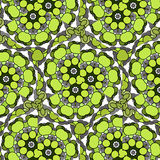 Funny hilarious, amusing pattern with bright circles. natural green background. Royalty Free Stock Photo